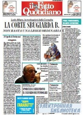 Il Fatto Quotidiano ( 20 10 2009 )