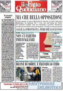 Il Fatto Quotidiano ( 03,04 10 2009 )