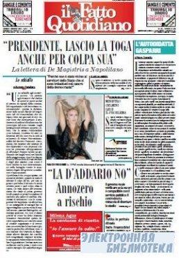 Il Fatto Quotidiano ( 01,02 10 2009 )