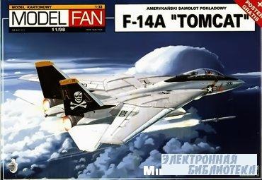 """Истребитель F-14A """"Tomcat"""" (Model Fan №11/98)"""