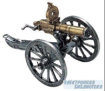 Gatling gun and carriage