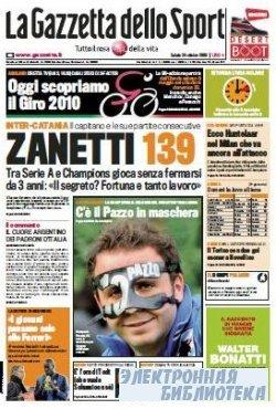 La Gazzetta dello Sport ( 24 10 2009 )