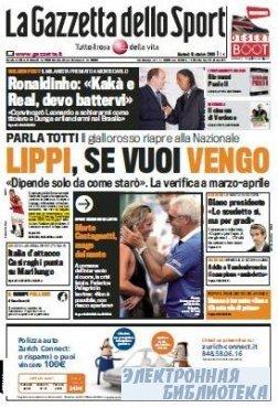 La Gazzetta dello Sport ( 13 10 2009 )