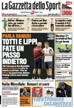 La Gazzetta dello Sport ( 12 10 2009 )