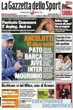 La Gazzetta dello Sport ( 09 10 2009 )