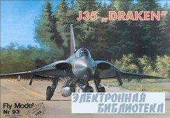 "Fly Model 093 - истребитель SAAB J35 ""Draken"""