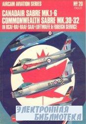 Canadair Sabre Mk.I/VI: Commonwealth Sabre Mk.30-32 in R.C.A.F., R.A.F., R.A.A.F., S.A.A.F., Luftwaffe and Foreign Service v. 2