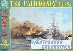 "Fly Model 099 - Battleship USS ""California"" 1944"