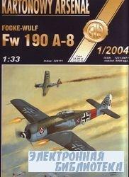 Focke-Wulf Fw 190 A-8 -Halinski Kartonowy Arsenal (1`2004)