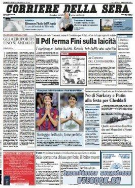Corriere Della Sera  ( 28 08 2009 )