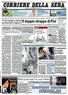 Corriere Della Sera  ( 27 08 2009 )