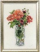 Fujiko вышивка крестом, цветы в стекле. Часть 1