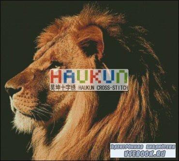 Буклет схем вышивки крестом HAUKUN A033 Лев