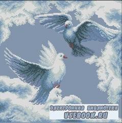 Вышивка крестиком - Полет голубей