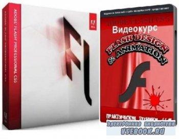 Видеоурок по рисование в программе Adobe Flash Professional (2012/ MP4)